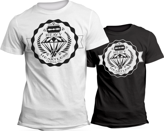 Heavy-Heartless-Clothing---Diamond-Badge---T-shirt-Mockup---black-and-white.png