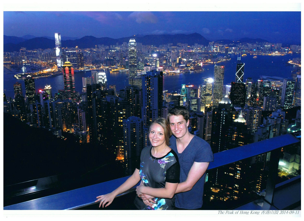 We had a stoke of genius to visit The Peak of Hong Kong at sunset... Apparently so did the rest of the world. I'd never seen so many selfie sticks in my life! Such a beautiful view though, it was definitely worth braving the crowds.