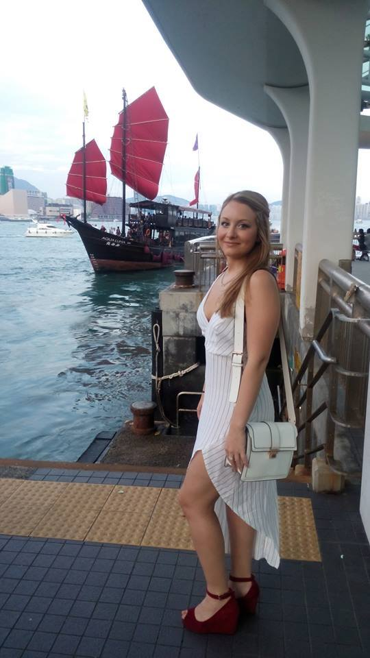 All dolled up for a Victoria Harbour night cruise! Wearing new KIRAPIZZINGRILLI summer dress (available very soon).  We sailed the harbour sipping our drinks (if we could keep a hold of them over the waves) and the details get a little hazy after that...