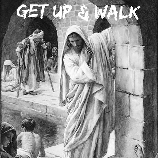 "Tomorrow morning we will talk about this story found in the Gospel of John. Jesus said to him, ""Get up, take up your bed, and walk."" And at once the man was healed, and he took up his bed and walked. -John‬ ‭5:8-9‬ ‭(ESV‬‬) #JesusSaves #JesusHeals"