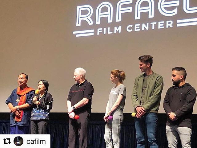 🙌🏼🙌🏼 So. Much. Fun! Thank you SO MUCH for having us!! #Repost @cafilm with @repostapp ・・・ Multiple standing ovations for @loveandbananasmovie and for the selfless heroes on stage who work tirelessly to stave off extinction for Asian elephants. Due to popular demand, we've added an encore screening of Love And Bananas on Monday, May 28 at 1:15pm. In attendance tomorrow, as they were today, are (right to left) Director of Photography Roddy Tabatabai, filmmakers John Michael McCarthy and Ashley Bell, Chairman of the Board of Elephants In Crisis David Casselman, and film subjects Lek Chailert, renowned Asian elephant conservationist and TIME Magazine's Hero of Asia, and Mr. Chaiyapong, a man who turned his family's elephant trekking operation into an elephant sanctuary, thus leading by example. Click the link in our bio to purchase advance tickets. #elephants #elephantrescue #asianelephant #savetheelephants #conservation #extinctionisforever