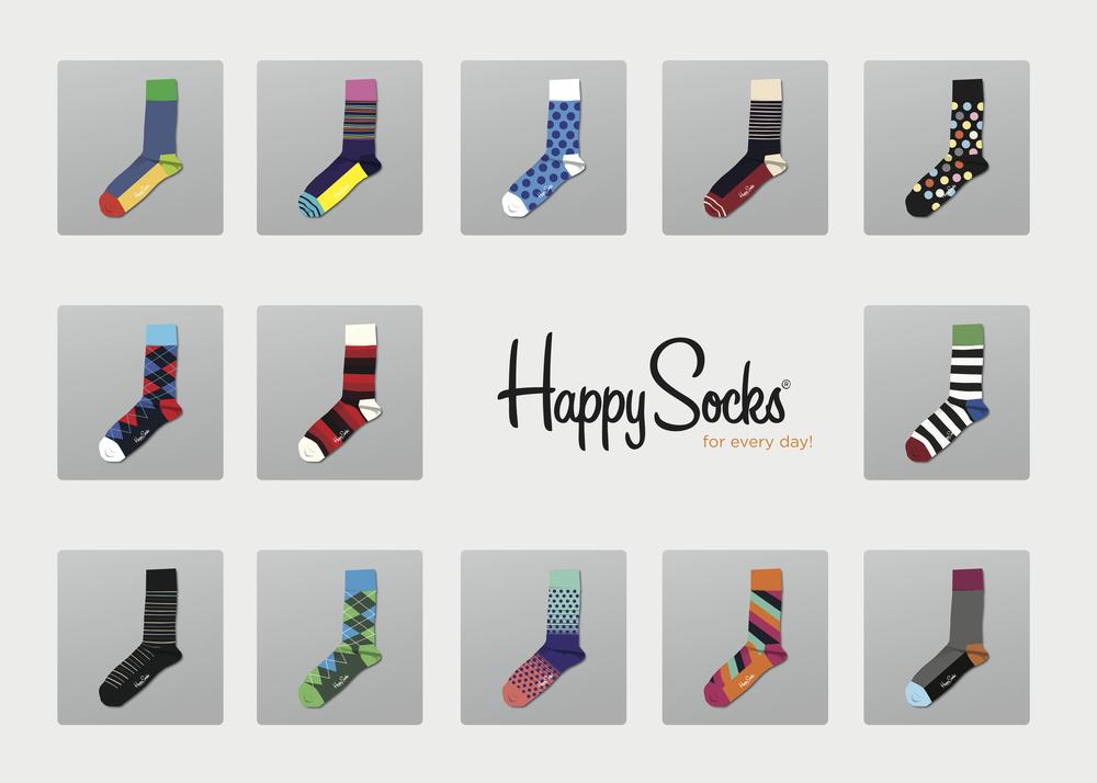 happy socks/ illustration Happy Socks