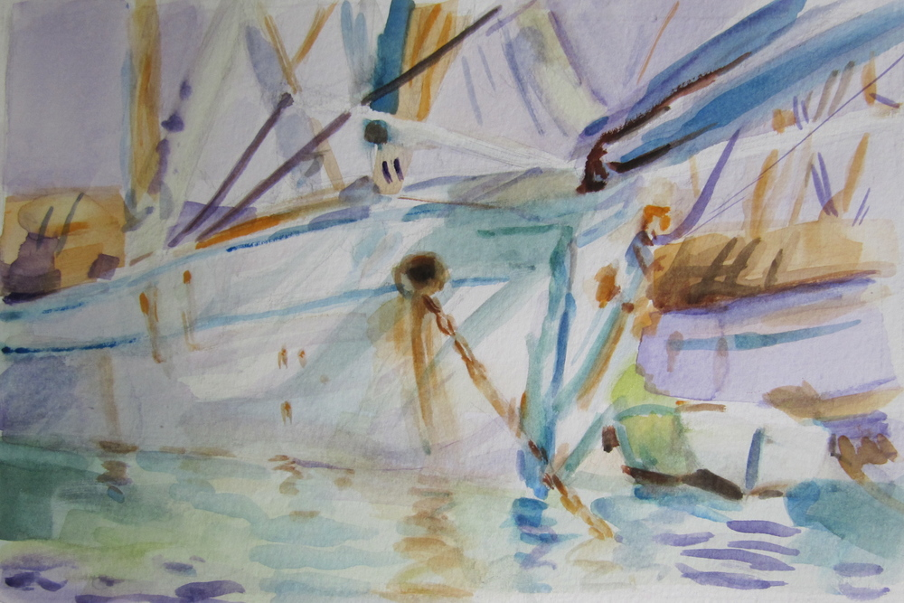 In a Levantine Port (After John Sargent)