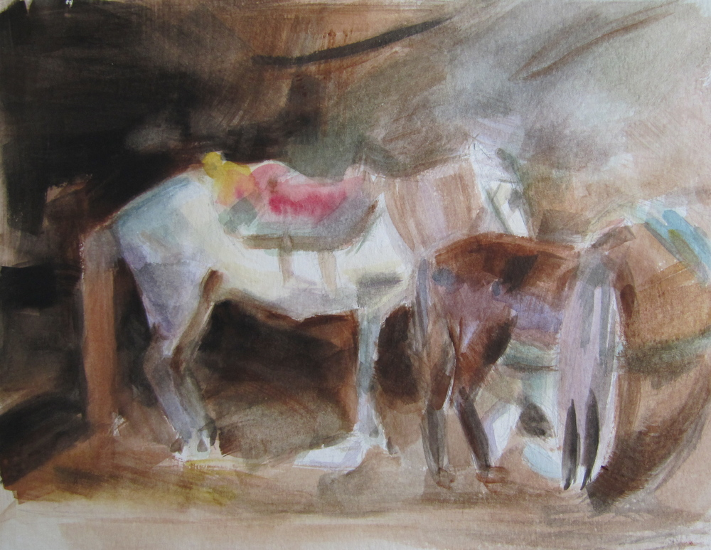 Arab Stable (After John Sargent)