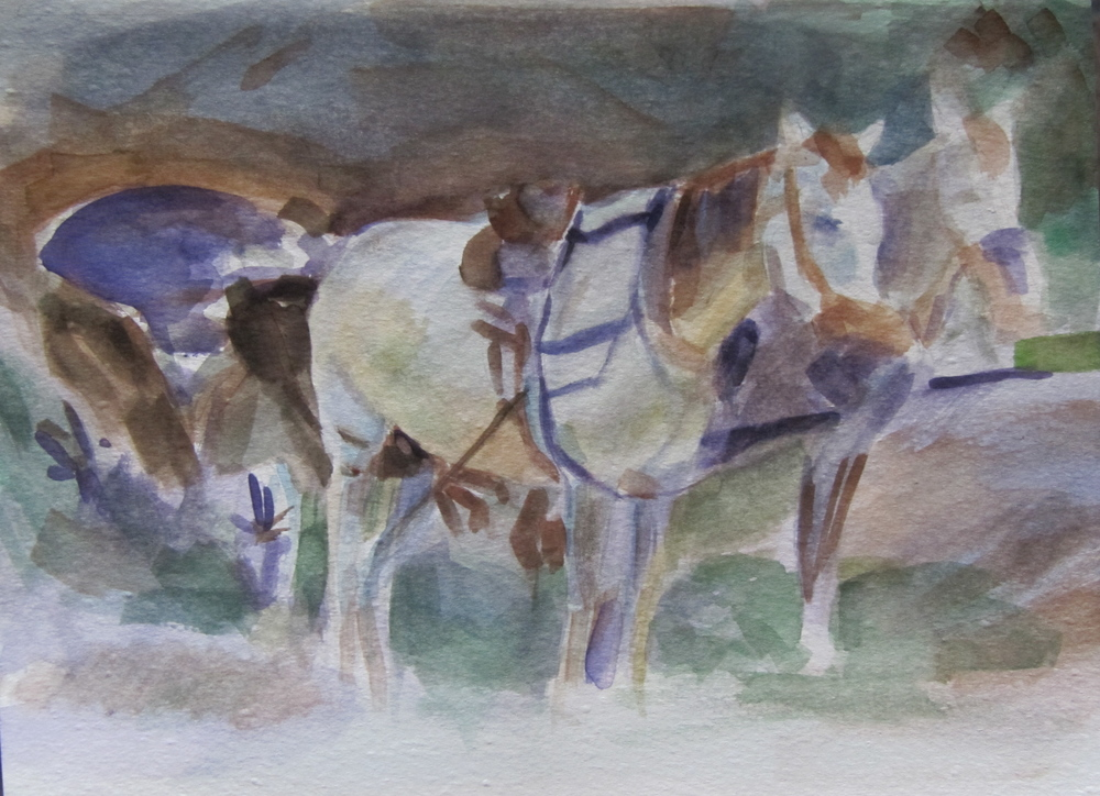 Study of Horses (After John Sargent)