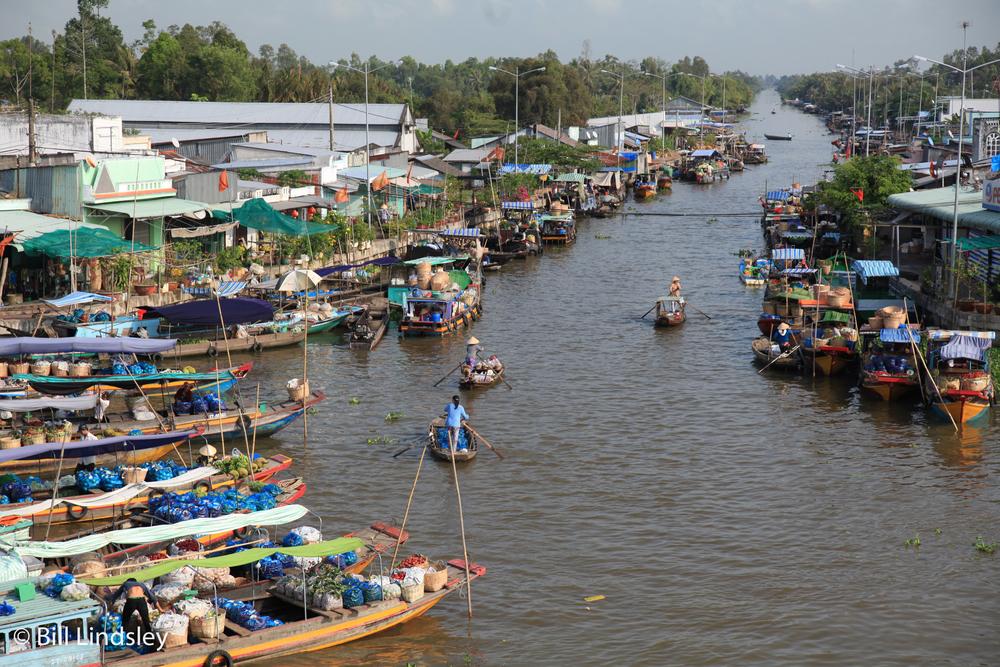 Nga Nam Floating Market, Mekong Delta, Vietnam