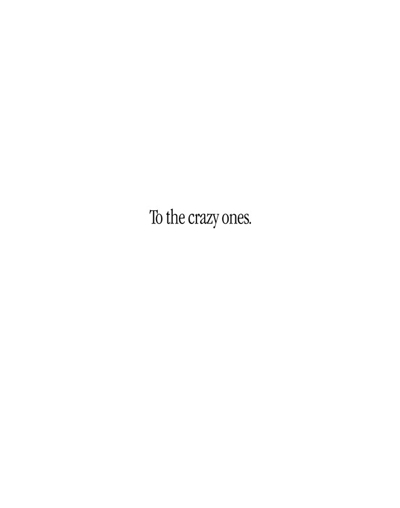 """Crazy Ones"" four page ad."