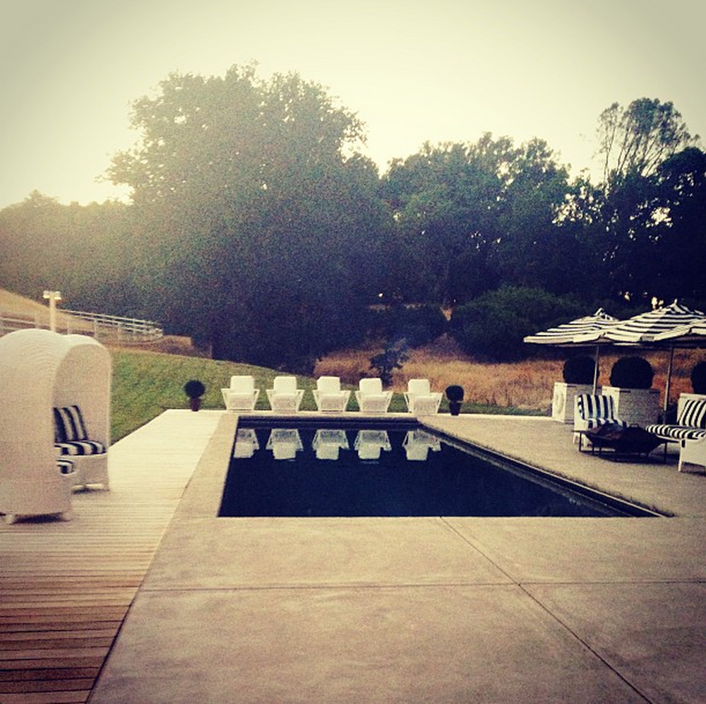 Durham Ranch wedding location, with Palecek outdoor furniture.