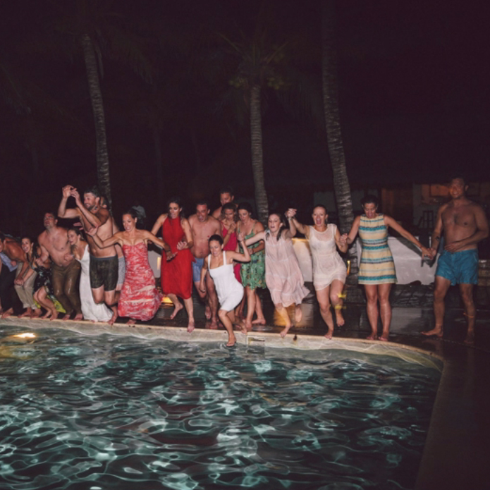 Ending the wedding with a splash. Photo by Max Wagner