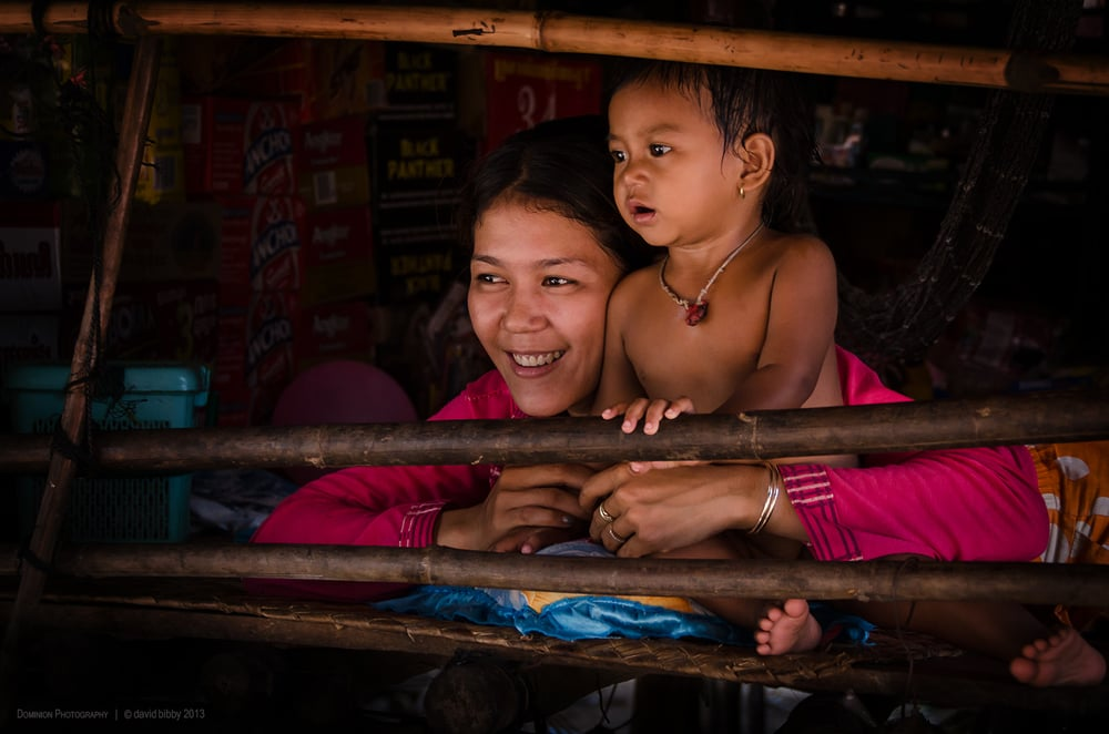 Mother and child  - Kampong Phluk, Siem Reap Province, Cambodia.