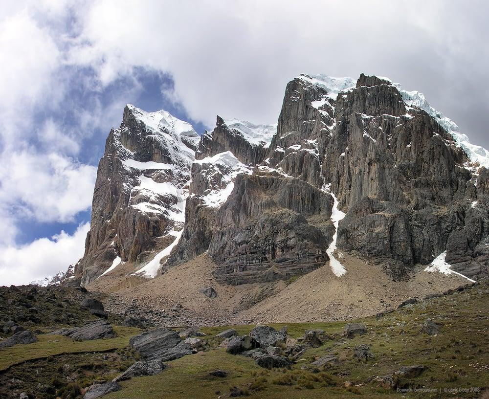 Western face of Cuyoc. Cordillera Huayhuash, Peru.