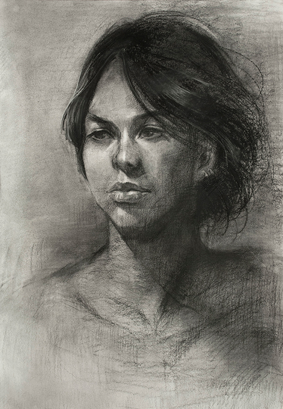 Unknown model, 3hr. Charcoal 14x22