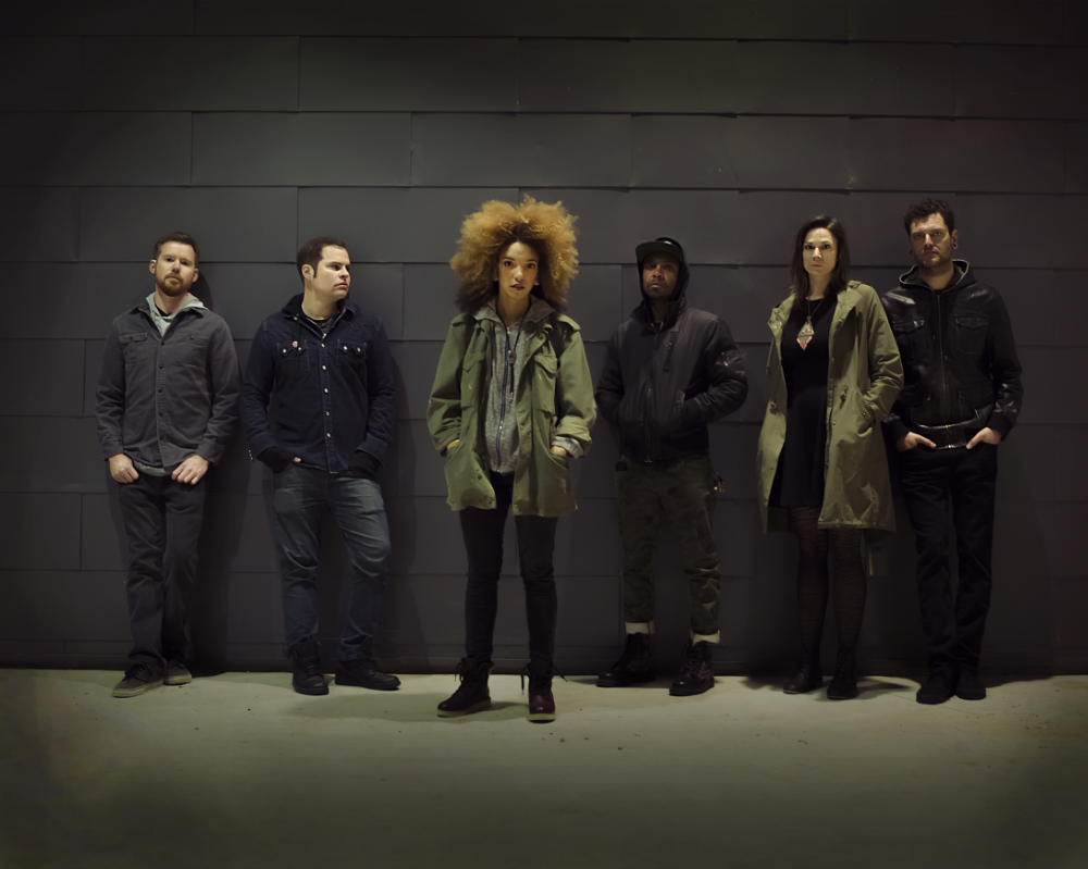 Image by John Tanner (c)  From Left to Right: Michael Wisdom; Chelsea Seth Woodward, Chantell Moody, Pax, Kara Mosher, Eddie Hudson
