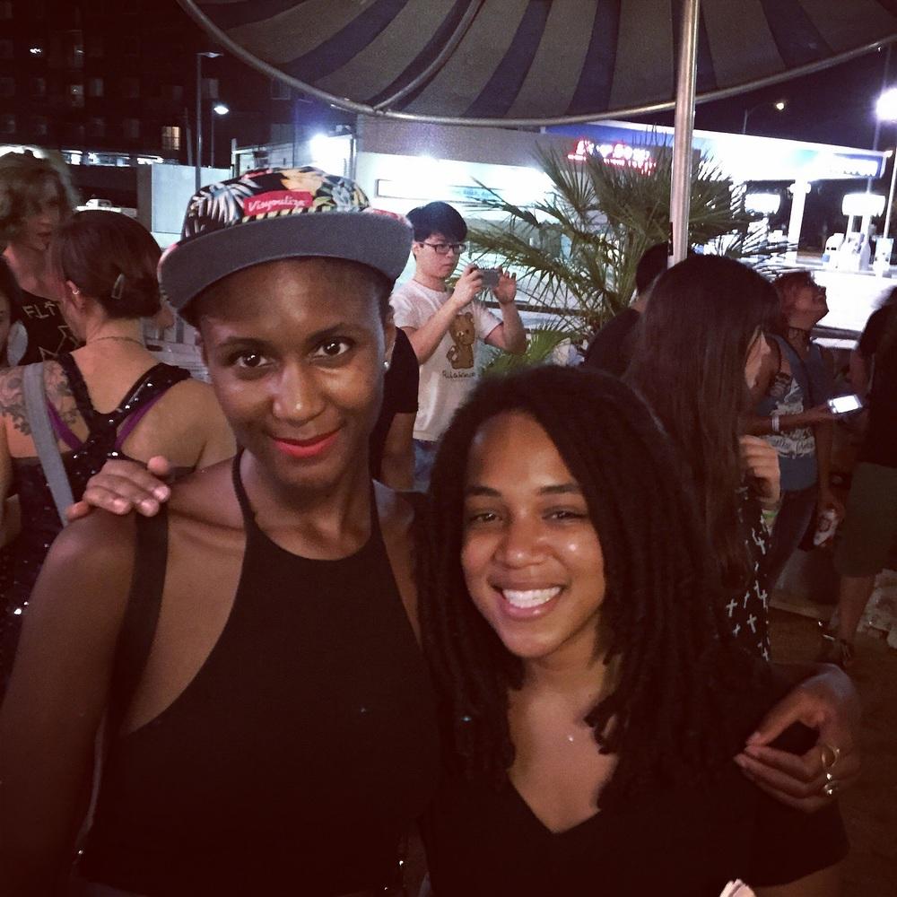 Me and Christina Coleman, aspiring artist and wonderful friend!