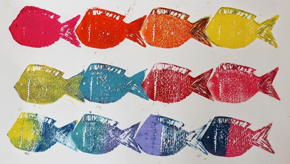 Fish tessellation prints