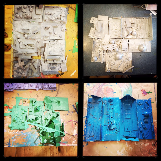 Louise Nevelson inspired found at sculpture