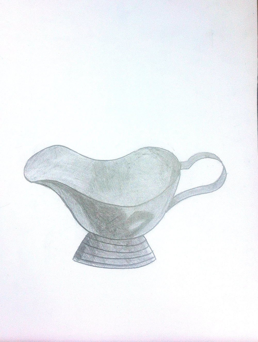 Metal pitcher by 12 year old student