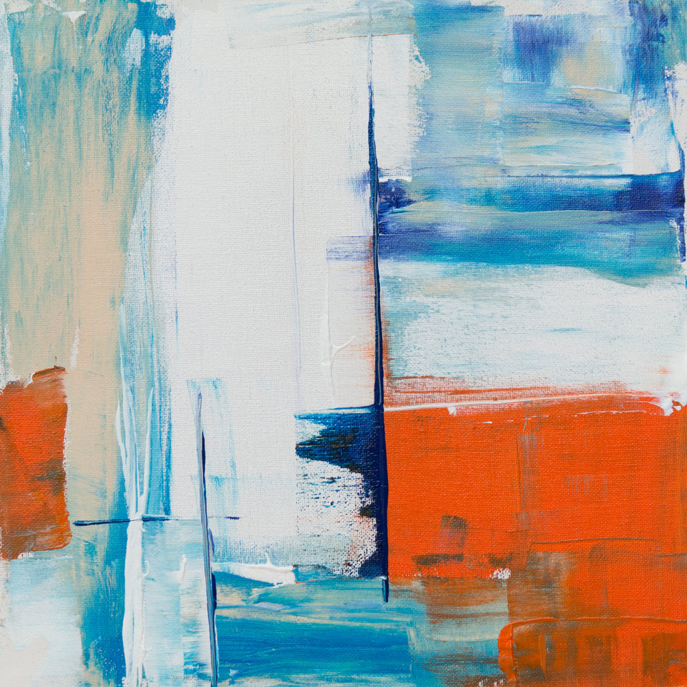 Session 6:  Abstract Acrylic  May 15, 22, 29, 2019  7:00-9:00 pm    Unwind and let your creativity flow in this session, which focuses on intuitive artistic expression and colour theory. Participants will create a work of art on canvas using alternative tools and complimentary or analogous colours.  Cost: $130 per session, includes materials.