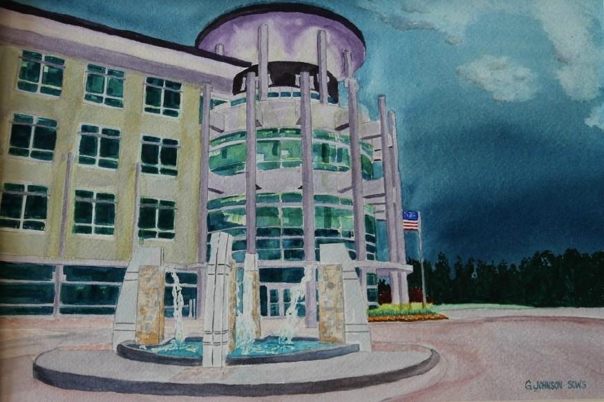 Hubbell Lighting Inc. HQ building in Greenville SC. Original Sold. & Architectural u2014 Gary Johnson Fine Art azcodes.com
