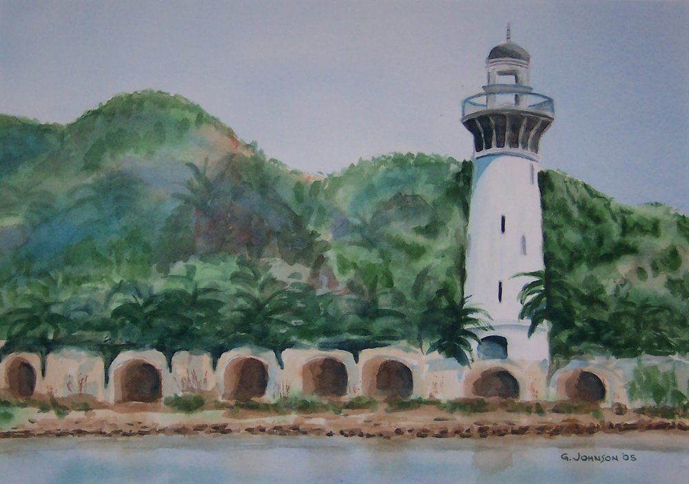 Lighthouse is in Acapulco.  Original painting is 10 X 14.    Price is $500 framed, $450 unframed.  Prints available upon request.