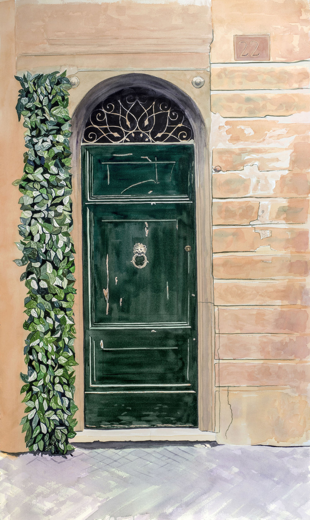 No. 22 da Vinci St., Rome, Italy.  Original and reproductions available.
