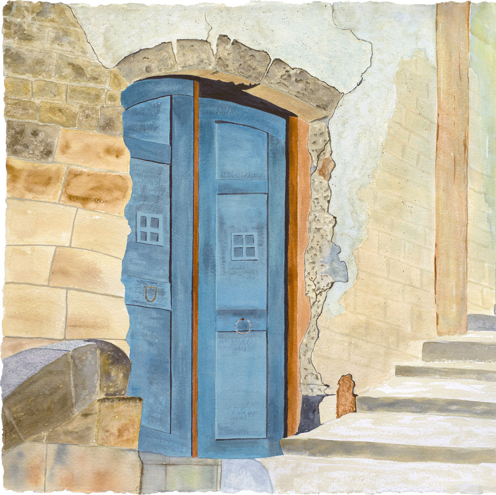 Door's open, Come on in.  From scene in Rome, Italy.  Original and reproductions available.