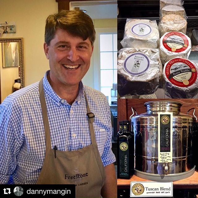 Love #Reposting 🧀💗🧀 Thx @dannymangin 👍🏼 ・・・ Everyone's favorite West County cheesemonger, Omar Mueller of @freestoneartisancheese, last month. Picked up some @pennyroyalfarm cheese and #OliveLeafHills oil from olives harvested just two months earlier.  @sonomacounty 🧀 . . #artisanalcheese #extravirginoliveoil #westsonomacounty #freestone #cheeeeese #saycheese #cheeselover