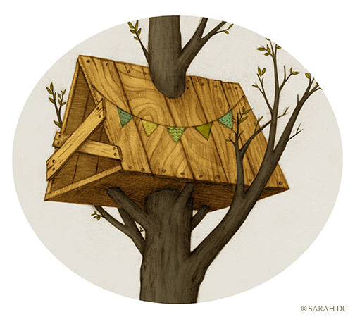 Homes, Houses, Places we live - treehouse