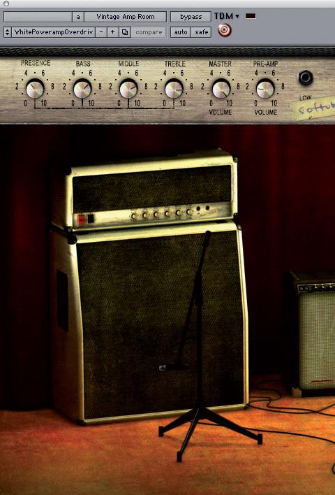 市面上有很多出色的音箱模擬軟體,如Softube Vintage Amp Room,它的特點在於簡潔的操作介面。