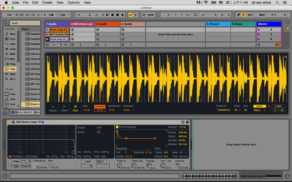 ableton live suite 9.5 教學啟動摟。
