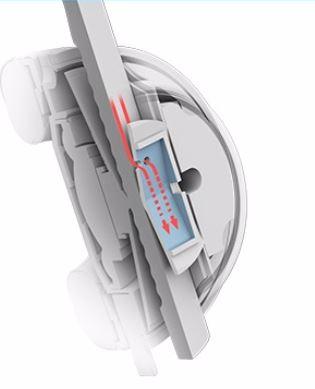 採用創新的抗造空氣室設計,消除環境噪音,耳墊採用柔軟皮革材料緊密貼合,增強隔音效果。