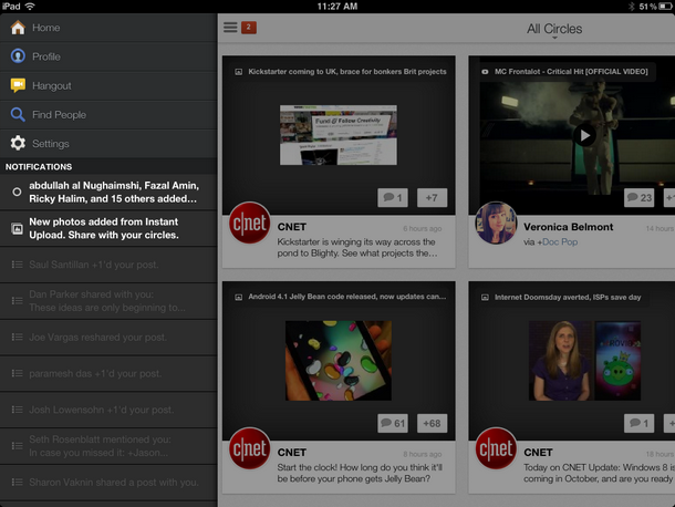 via reviews.cnet.com It's about time they got an iPad app!
