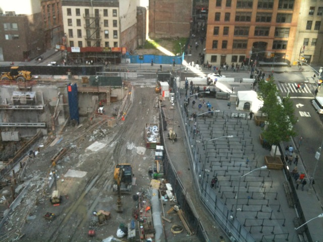 I have a good view of ground zero.