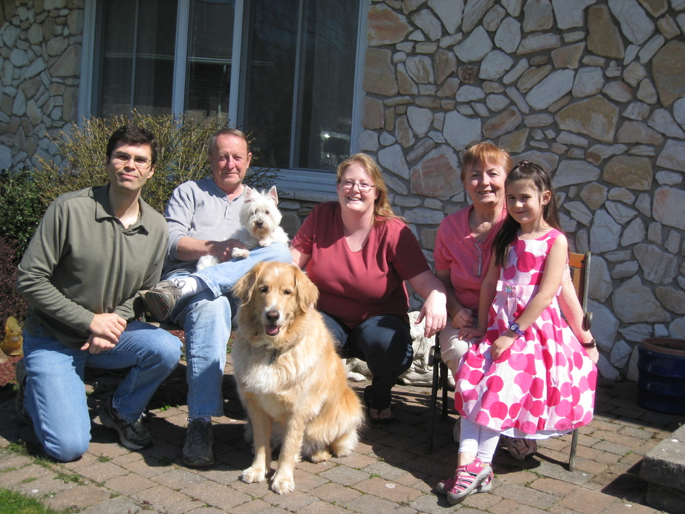 The yearly Easter family photo turned out great!  EVERYONE was looking at the cameras - including the dogs!