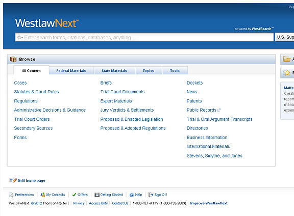 via store.westlaw.com I had a hand in WestlawNext's search and case topic assignment logic. This is their new promotional site: http://westlawnext.com