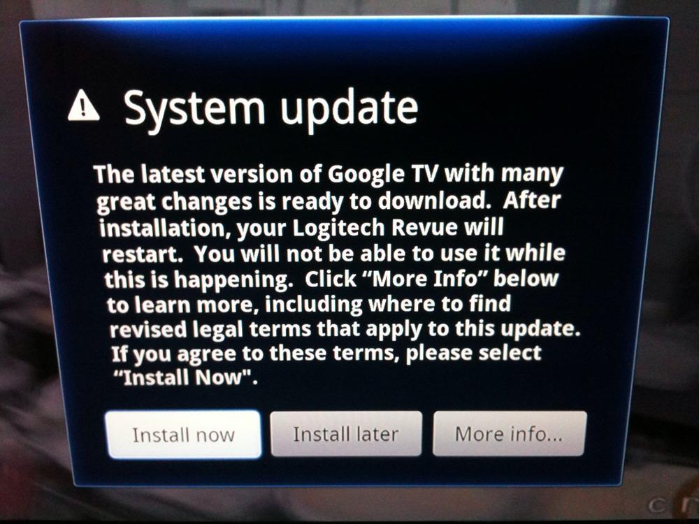 Update installing...