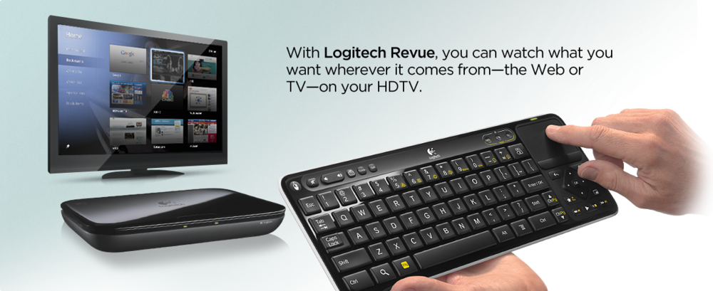 (Promo video) via logitech.com The price dropped (temporarily?) to $99 from $299 for the Logitech Revue. Sales have been poor, especially after numerous video streaming sites started blocking Google TV. I believe the box was plagued early on with software glitches as well. Over the air (OTA) updates have fixed some of these issues - e.g. the Netflix app has improved. The $99 price point is tempting me to try one out. I stream netflix a lot and I hate the Tivo netflix integration - very clunky. I'm also looking for a way to get my other media on the local network to the device. My first gen. AppleTV is a pain for getting video to my TV - it has a very limited set of video formats it supports. That said, I'm still searching for what video formats and home media streaming the Revue supports. I also like the idea of having the web along side the TV - the PIP web browser/video is interesting. Many times, I've hunted down my laptop or iPhone to look up something related to the show I'm watching... What are you thoughts on the Revue? Have one? Is it worth it give the $99 price point? Let me know.