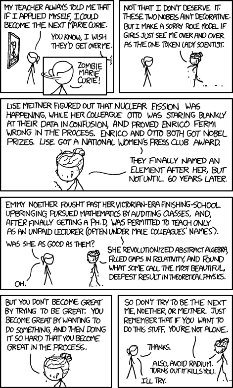 via xkcd.com Advice I'll be sure to pass on to M someday...