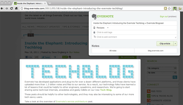via blog.evernote.com Loving the new Evernote extension (http://evernote.com) for Chrome!