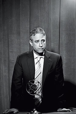 """via nymag.com NYMag has a great article on Jon Stewart and the Daily Show. """"Jon has chronicled the death of shame in politics and journalism,"""" says Brian Williams, theNBC Nightly Newsanchor who is a frequentDaily Showguest. """"Many of us on this side of the journalism tracks often wish we were on Jon's side. I envy his platform to shout from the mountaintop. He's a necessary branch of government."""" --nymag.com"""