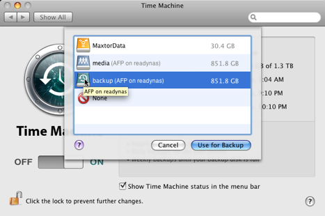 Test Post: Getting Time Machine to Work with Your NAS