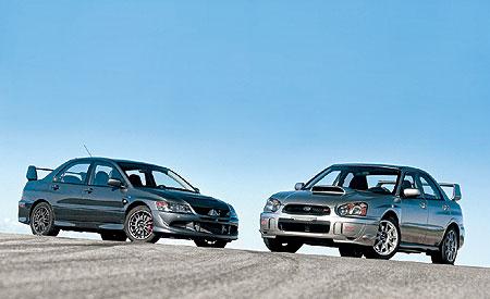 Bad-Boy Sedans: Evo vs. STi Rematch [Car And Driver]