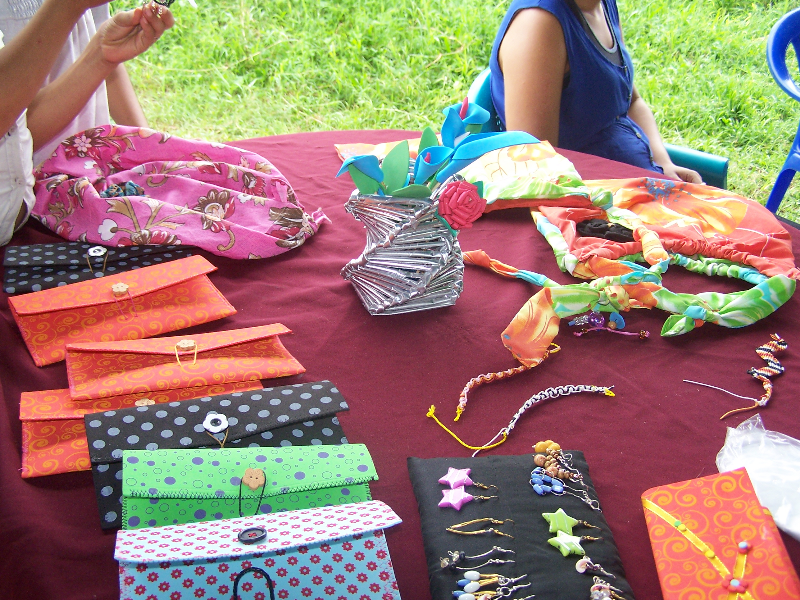 Hand made crafts to support missions made bye the church!