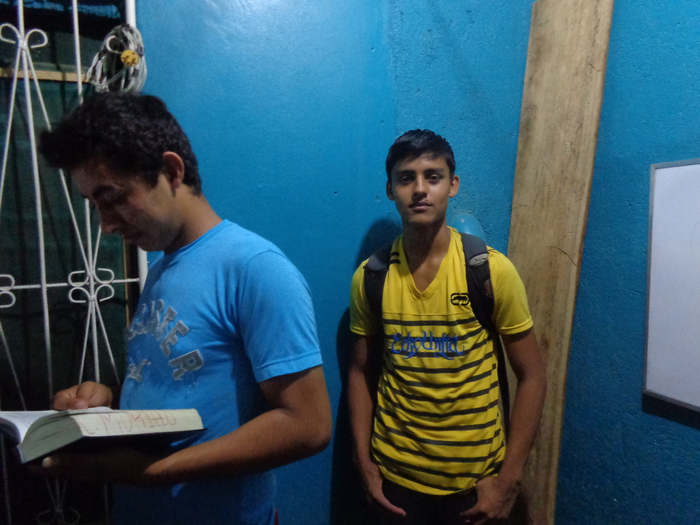 Murio on the left and Larri on the right they are both right now learning more about Jesus and in discipleship class.