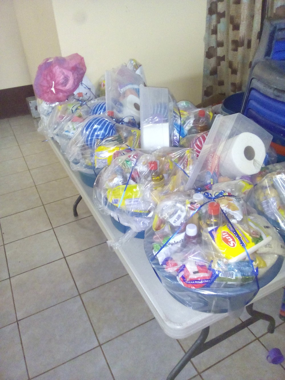 - 10 Baskets=10 Families!