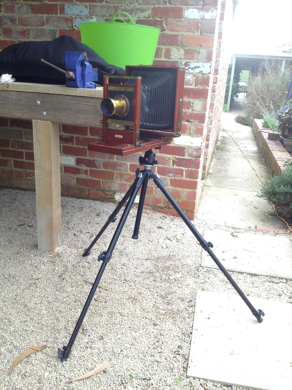 The Century View camera I used today, made for dry not wet plates.