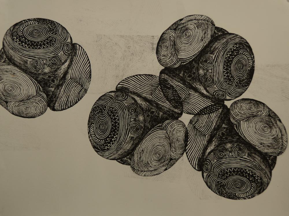 2009. Screenprinting pigment, rag paper.
