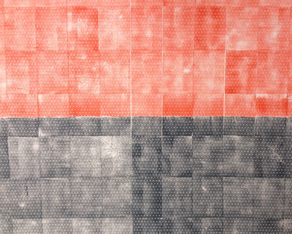 2012. Block print, textile pigments, cotton broadcloth.