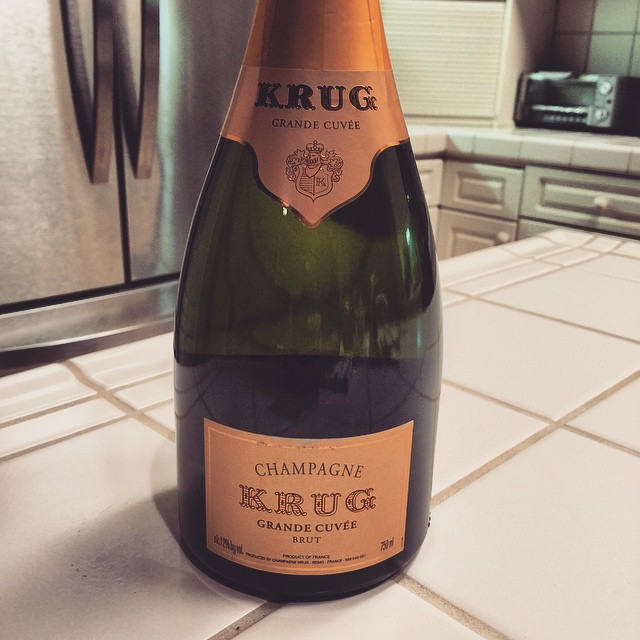 A little bit of this tonight, and then bread and water for the rest of the week. The party has started, and it's just me and Artie so far haha :O #krug