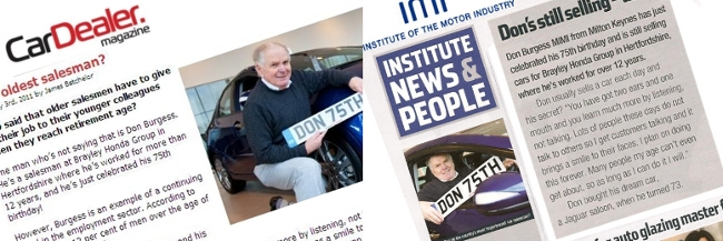 Photoshoot most experienced car salesman richard for Institute of the motor industry